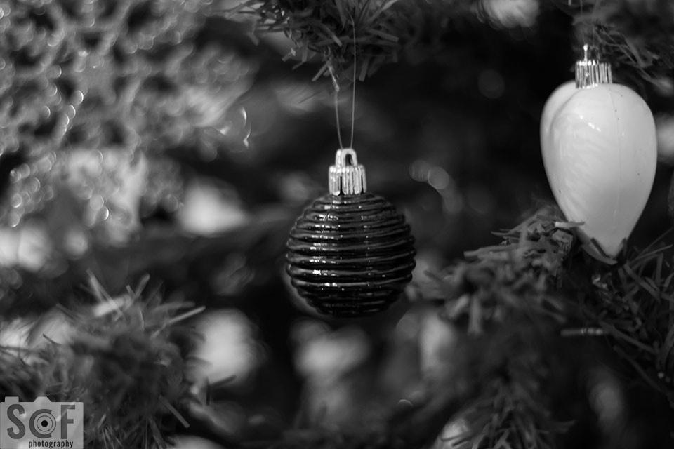 Blue Christmas Ball - Monochromacy Achromatopsia