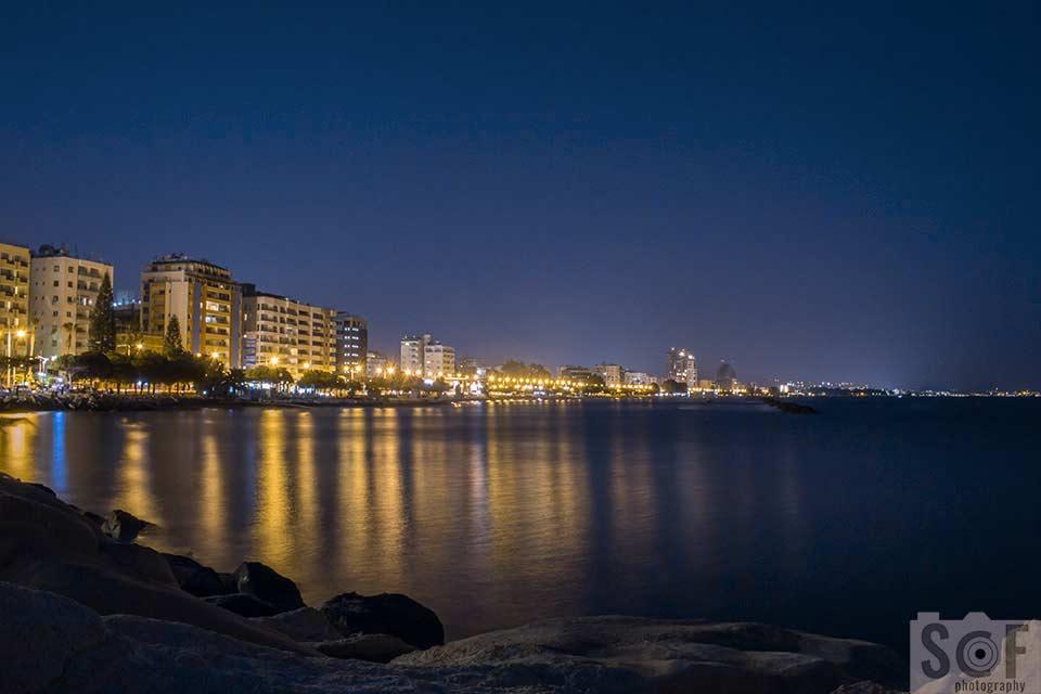 Limassol Coast View At Night - Deuteranomaly