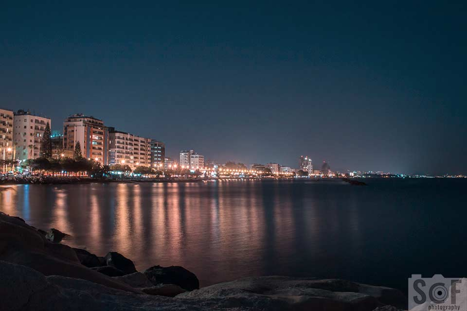 Limassol Coast View At Night - Tritanomaly