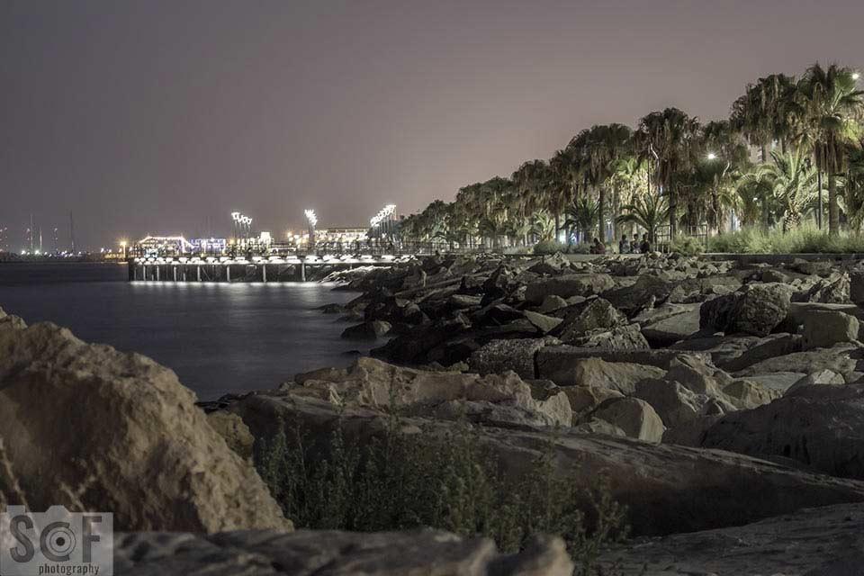 Molos Park Night View - Blue Cone Monochromacy