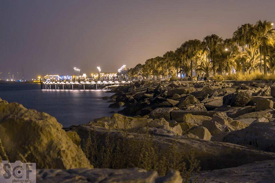 Molos Park Night View - Deuteranopia