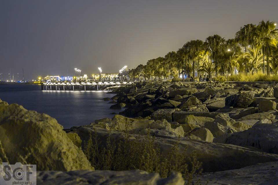 Molos Park Night View - Protanopia