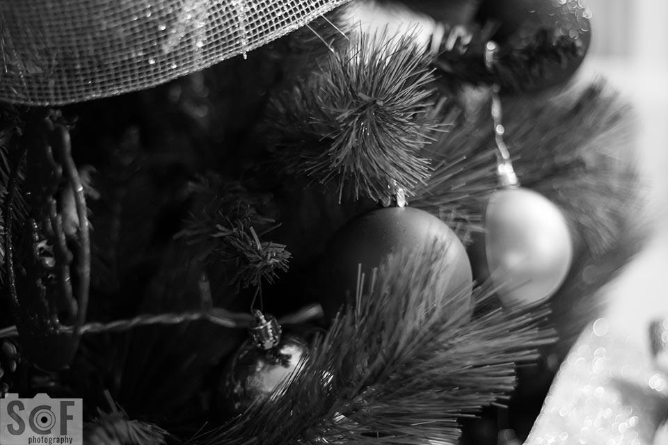 Red Christmas Ball - Monochromacy Achromatopsia