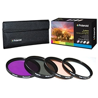Polaroid Optics HD Multi Coated Glass 4 Piece Filter Set
